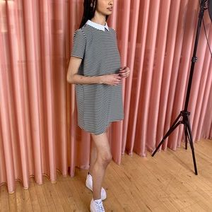 Striped Collared Minidress